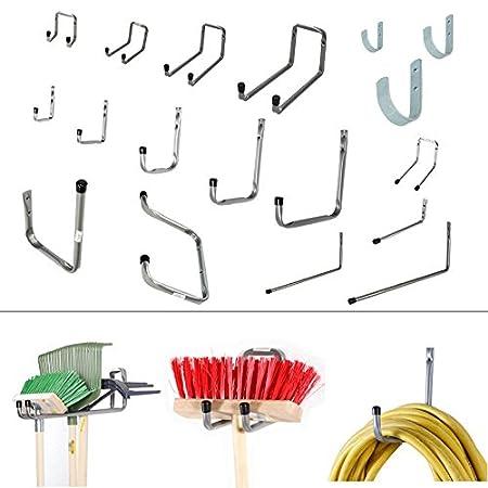 15x Wandhalter Gerätehaken Werkzeughaken Besenhalter Wandhalterung Gartengeräte