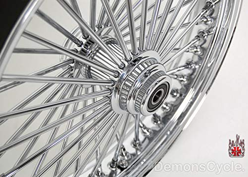 DEMONS CYCLE 23 x 3.5 Chrome Mammoth 48 Fat Spokes Front Wheel for Harley-Davidson