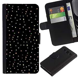 WINCASE (No Para S3 Mini) Cuadro Funda Voltear Cuero Ranura Tarjetas TPU Carcasas Protectora Cover Case Para Samsung Galaxy S3 III I9300 - cielo de lunares puntos estrella del punk negro
