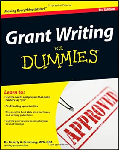 Grant Writing For Dummies Beverly A Browning 9780470291139