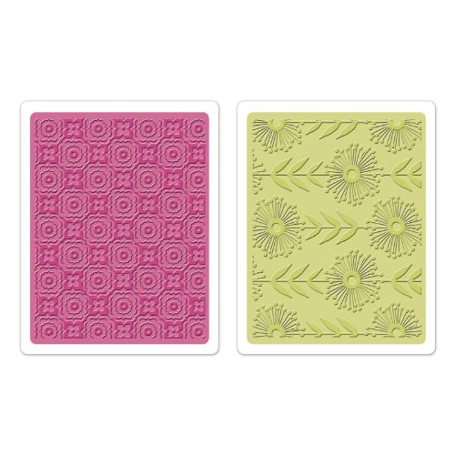 Sizzix Textured Impressions Embossing Folders 2/Pkg Psychedelic Dreams