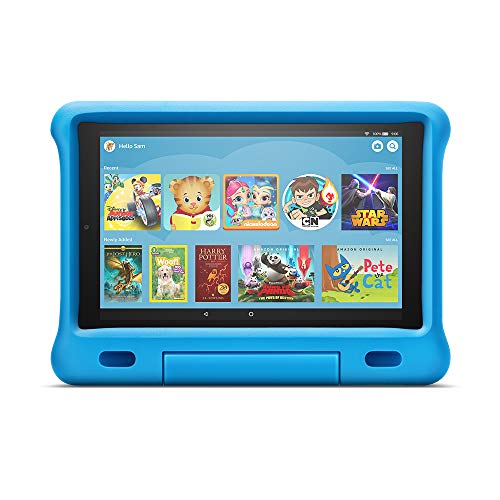 All-New Fire HD 10 Kids Edition Tablet – 10.1″ 1080p full HD display, 32 GB, Blue Kid-Proof Case