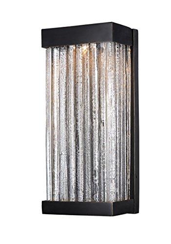 Wall Sconces 1 Light Bulb Fixture with Bronze Finish Viex Material COB Bulbs 7 inch 8 Watts