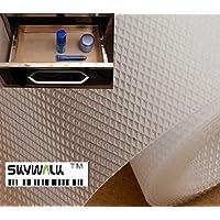 Skywalk Multipurpose Polyester Blend Super Strong Textured Anti-Slip Eva Mat, 5m, White)