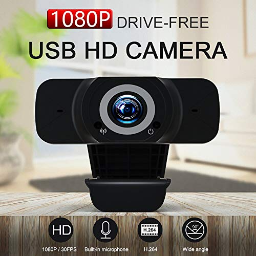 HoSuTek PC Web Cam 1080P HD - Web Camera with Microphone for Video Conference Calls - HD Video Camera for Computer - Mac & PC Camera Webcam with Microphone - 1080p Webcam with Microphone - USB Camera