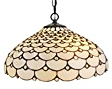 Amora Lighting AM011HL18 Tiffany Style Jeweled Hanging Lamp, 18-Inch
