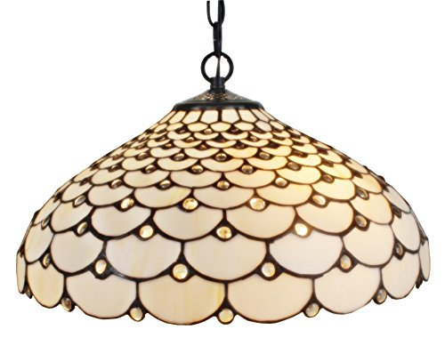 Amora Lighting AM011HL18 Tiffany Style Jeweled Hanging Lamp, 18-Inch