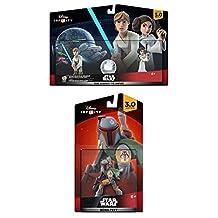 Disney Infinity 3.0 Star Wars: Boba Fett + Luke & Leia Figure Playset NEW