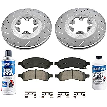 Fit 2009-2012 Chevrolet Colorado Front PSport Drilled Brake Rotors+Ceramic Pads
