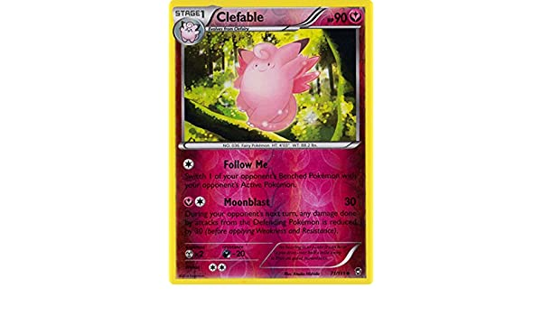 POKEMON XY FURIOUS FISTS CLEFABLE 71//111