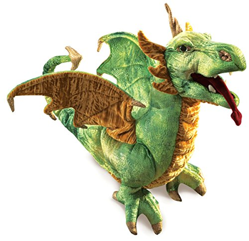 Folkmanis Wyvern Dragon Hand Puppet (Puppet Three Dragon Headed)