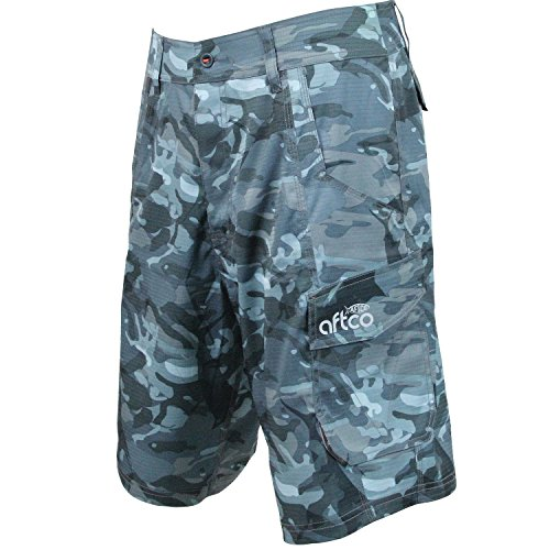 AFTCO Tactical Fishing Shorts - Blue Camo - Size 38