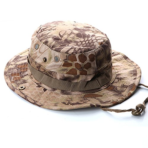 Rattlesnake Hat - ROUTESUN Outdoor Boonie Sun Hat,Summer UPF 50 Protection Hunting Hat for Men& Women,Quick Drying and Breathable,Wide Brim Hat for Camping,Hiking and Fishing (Desert Rattlesnake