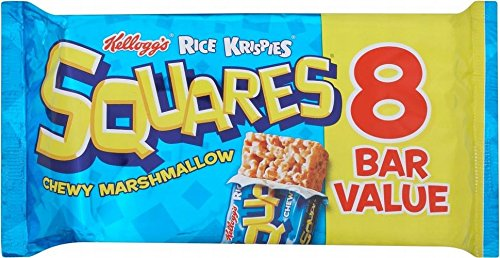 Kellogg's Rice Krispies Squares Chewy Marshmallow (8x28g) - Pack of 2