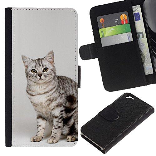 EuroCase - Apple Iphone 6 4.7 - Egyptian mau Bengal bobtail cat - Cuir PU Coverture Shell Armure Coque Coq Cas Etui Housse Case Cover