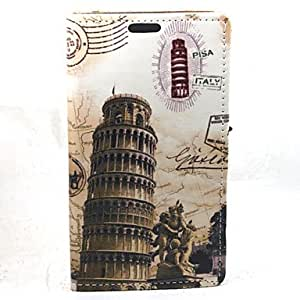 LHY For Samsung Galaxy A3 Leaning Tower of Pisa Compatible Graphic PU Leather Full Body Cases/Cases with Stand
