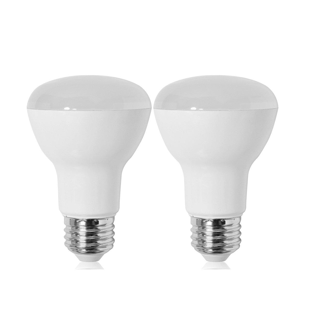,525 Lumens,UL-Listed Wide Flood R20 Light Bulb,120/° Beam Angle,Medium Base BR20 LED Bulb,Dimmable,7W ,2700K Soft White 50W equivalent E26