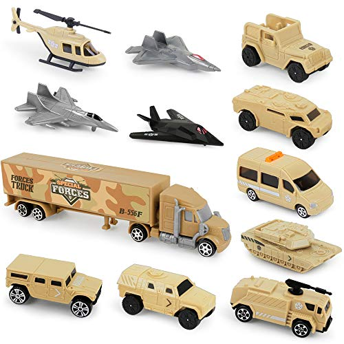 Special Forces Military Vehicles Scaled Army Toy Playset - Stealth Bomber, Tank, Helicopter, Jets and More
