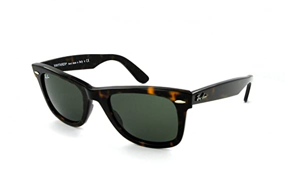 68202e0d99189 Ray-Ban - Wayfarer - RB2140 902 - 54mm - Tortoise Frame - Crystal Green Lens   Amazon.co.uk  Clothing