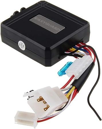 EASYGUARD EM211 Syst/ème dalarme 2 Voies pour Moto D/émarrage /à Distance Capteur de Choc Inclinaison D/étecteur de Mouvement Affichage LCD DC 12 V