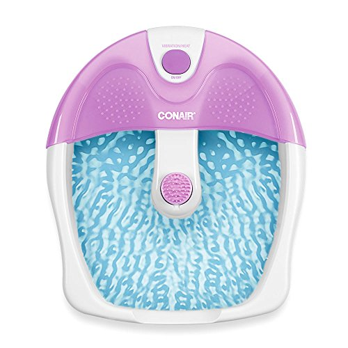 Conair Foot Spa/Pedicure Spa with Soothing Vibration Massage, Lavender/White ()