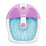Conair Foot Spa / Pedicure Spa with Soothing Vibration Massage, Lavender/White
