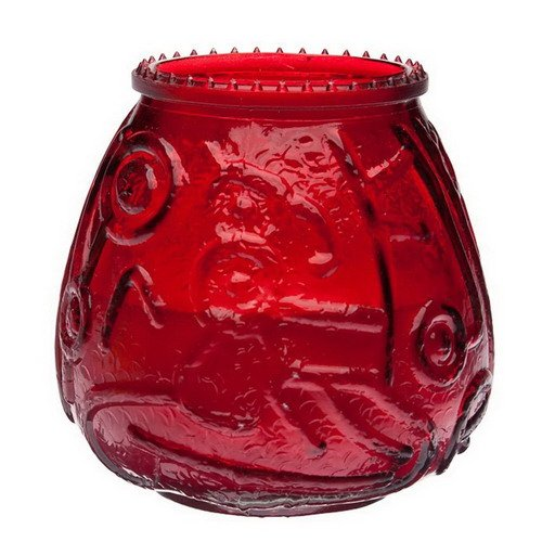 Sterno Euro Venetian Red Wax Filled Glass Candle - 12 per case. ()