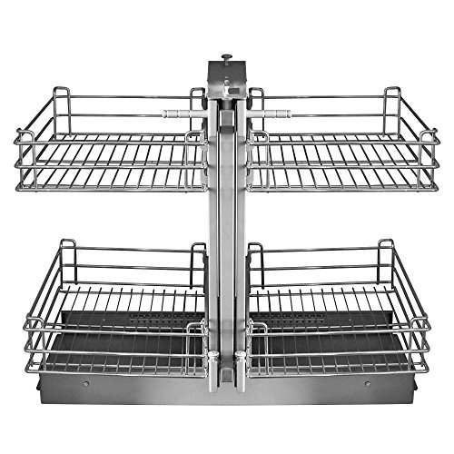 Silverline MC2718 Blind Corner Magic Cabinet Caddy Pull-Out 2-Tier Basket ()