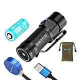 Olight® S1R Cree XM-L2 LED 900 Lumens Rechargeable EDC Flashlight 550mAh RCR123A Battery Pouch Turbo S Compact Light Cool White Outdoor Lighting Products