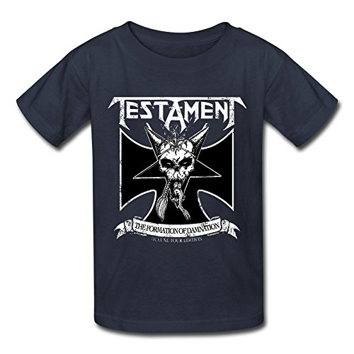 Price comparison product image DONVAN Kid's Geek Testament The Legacy T-shirts S Navy