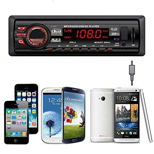 In Dash Car Audio Bluetooth Stereo Head Unit Digital Bluetooth Car MP3 Player / FM Radio Stereo Audio Music MP3/USB/SD/AUX/FM Input AUX Mp3 Wma Fm Dvr