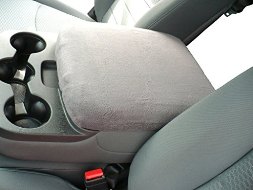 Car Console Covers Plus Made in USA Center Armrest Console Cover fits Dodge Ram 1500 2500 3500 Models 2014-2019 Light Gray