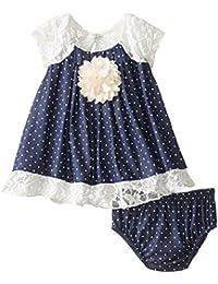 Baby Girls' Chambray Dress and Panty Set