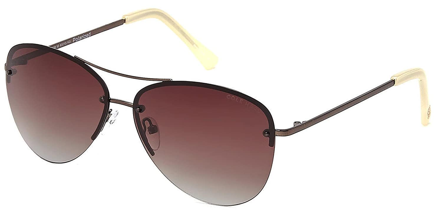 4f5a6486ae Cole Haan C16139 52 Aviator Rimless Brown Sunglasses Brown Gradient  Polarized Lens at Amazon Women s Clothing store