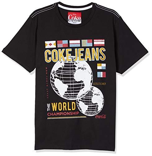 Camiseta Estampada, Coca-Cola Jeans, Masculino, Preto, M