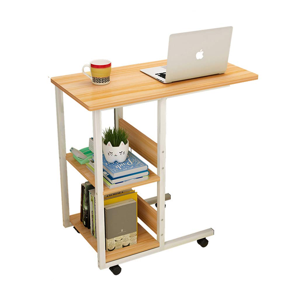 Amazon.com: Mobile Bedside Table IKEA Lazy Rolling Wooden ...