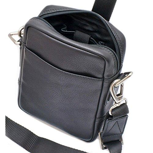 19 shoulder 71''x2 5x6 36'' 5x14 68''x5 'Davidt's'black 7 cm grained bag Leather dI4wqTT