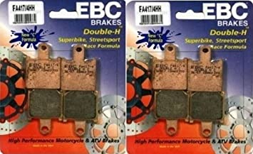 EBC /'HH/' Front 3 Sets Rear Brake Pads 2007-2012 Kawasaki ZX6R // FA417//4HH
