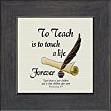 Teacher Appreciation Inspirational Saying of Gratitude Framed Gift With Easel For Standing(33MB)