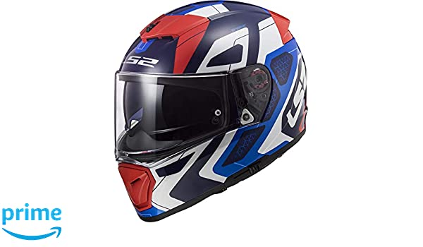 81fe0e8a Amazon.com: LS2 Helmets Unisex-Adult Full face Helmet Red/White/Blue  X-Large: Automotive