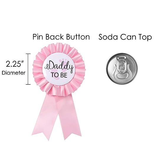 Amazon.com: Pin de insignia de Papá para ser y mamá para ser ...