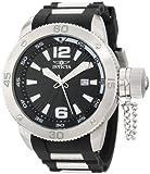 Invicta Men's 12963 Force Black Textured Dial Black Polyurethane Watch, Watch Central