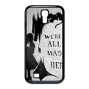 We're All Mad Here Black Samsung Galaxy S4 Case Black