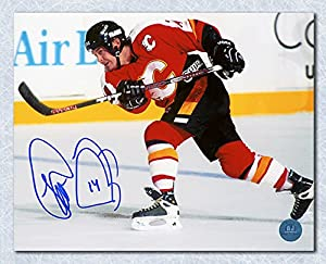 Theo Fleury Calgary Flames Autographed Shooting 8x10 Photo