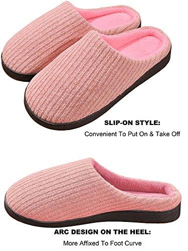 Foam Beurlike Cozy Slippers Memory Warm Indoor Cute House Shoes Pink2 Women's Winter r7q7cwtg
