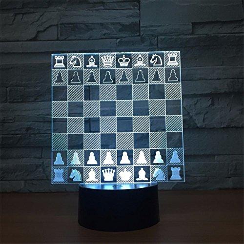 Ajedrez 3D Control remoto ILLusion Luz de la noche Impresionante Colores visuales Cambio de mesa Escritorio Lámpara óptica...