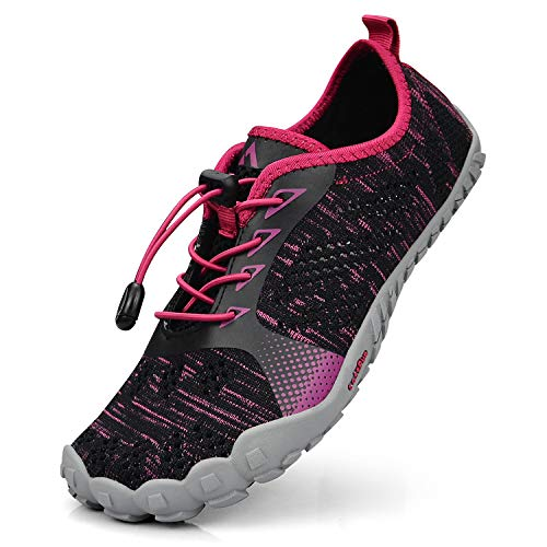 Gym Sports Black Breathable Womens Athletics Barefoot Hiking QANSI Shoes Water Shoes Walking Mesh Shoes Outdoor Running Red 1wqROzBq