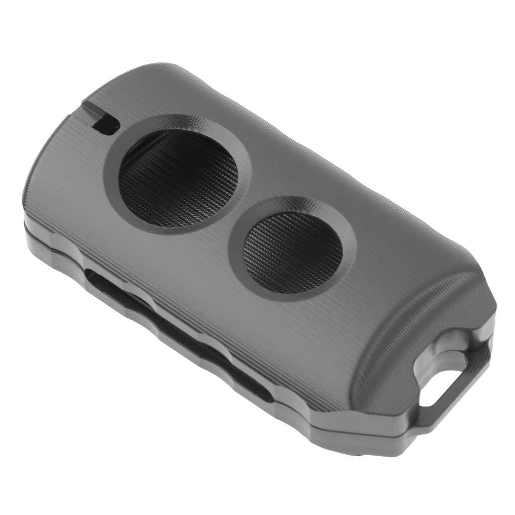 H HILABEE Coque de Cl/é de Moto en Alliage Couverture de Cl/é /à T/él/écommande Protection pour Yamaha Xmax 125//250//300//400 17-19 Bleu