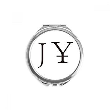Amazon Currency Symbol Japanese Yen Mirror Round Portable Hand