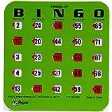 Regal Games 25 Green Fingertip Shutter Slide Bingo Cards